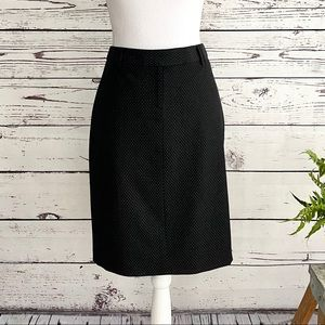 The Limited Black Front Zip Pencil Skirt S…